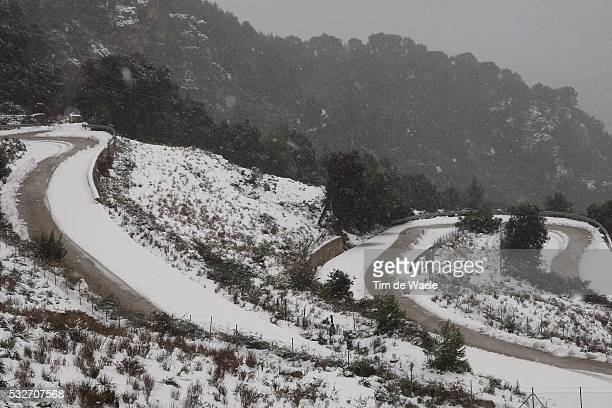 Tour of Mallorca 2012 / Stage 4 Col de SOLER Cancelled stage due to bad weather conditions / Snow Neige Sneeuw / Illustration Illustratie / Landscape...