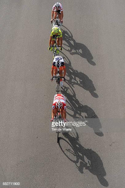 Tour of Oman 2012 / Stage 3 Kevin Hulsmans / Vladimir Isaichev / Alexandre Lemair / William Clarke / Illustration Illustratie / Shadow Hombre Schaduw...