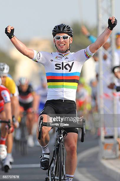 Tour of Qatar 2012 / Stage 5 Arrival / Mark CAVENDISH Celebration Joie Vreugde / Camel Race Track - Al Khor Corniche / Ronde / Rit Etape /Tim De Waele