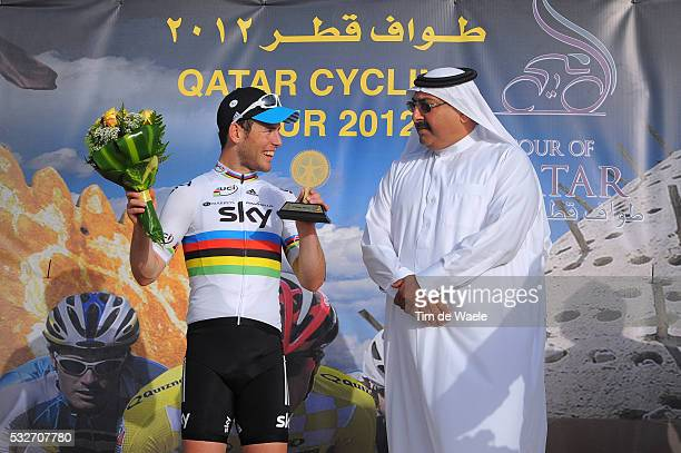 Tour of Qatar 2012 / Stage 5 Podium / Mark CAVENDISH Celebration Joie Vreugde / Sheikh Khalid Bin Ali Bin Abdullah Al Thani President Qatar Cycling...
