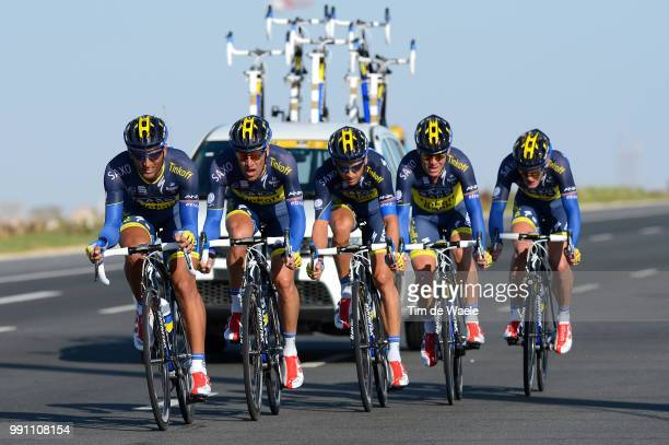 Tour Of Qatar 2013, Stage 2 Team Saxo Tinkoff Bank / Daniele Bennati / Matti Breschel /Jonathan Cantwell / Jonas Jorgensen / Karsten Kroon / Marko...