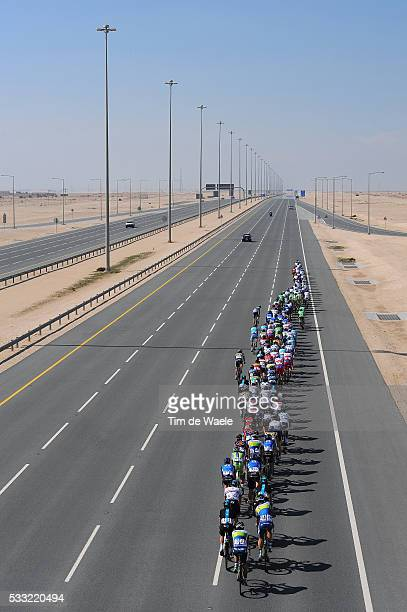 Tour of Qatar 2013 / Stage 4 Illustration Illustratie / Peleton Peloton / Highway Autoroute Autostrade Snelweg / Dessert Woestijn / Landscape Paysage...