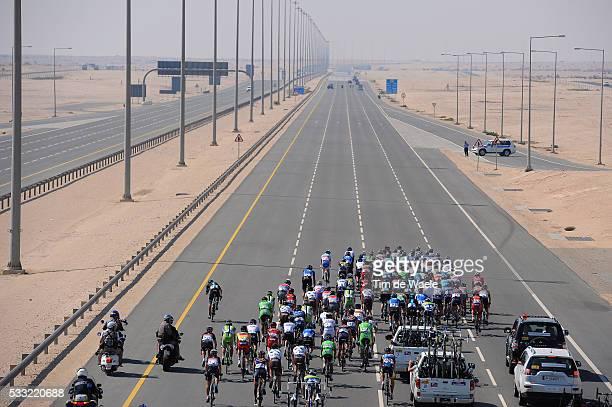 Tour of Qatar 2013 / Stage 4 Illustration Illustratie / Peleton Peloton / Highway Autoroute Autostrade Snelweg / Dessert Woestijn / Landscape Paysage...