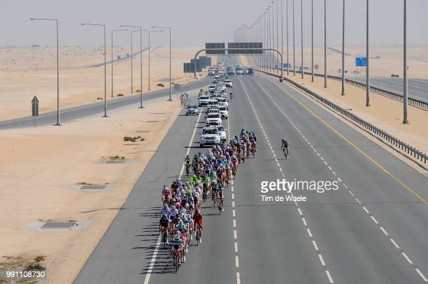 Tour Of Qatar 2013 Stage 4 Illustration Illustratie Peleton Peloton Highway Autoroute Autostrade Snelweg Dessert Woestijn Landscape Paysage Landschap...