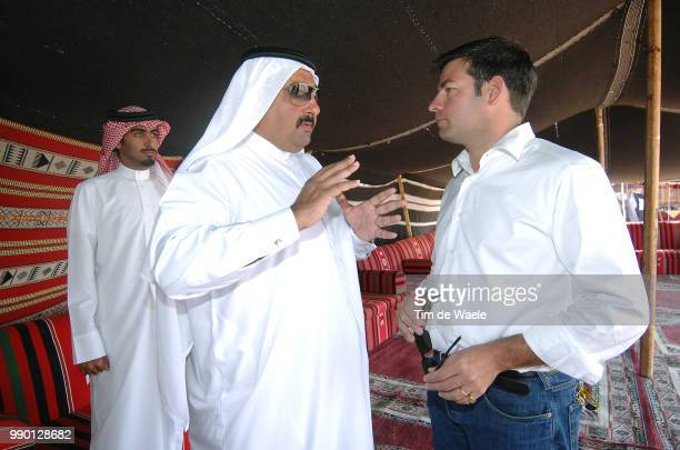 Tour Of Qatar, Stage 5Lelangue John , Sheikh Khalid Bin Ali Al Thani President Qatar Cycling Federational Zubarah - Mesaieed Ronde Van Qatar, Rit...