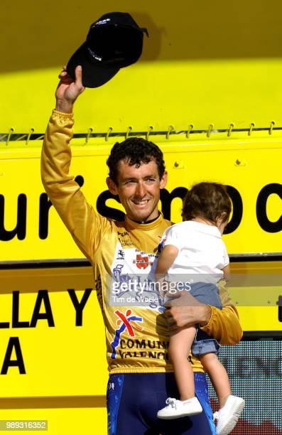 Tour Of Spain 2004Heras Roberto Yellow Jersey Maillot Jaune Gele Trui Podium Celebration Joie Vreugde Dauchter Fille Dochter Marta Heras Stage Etape...