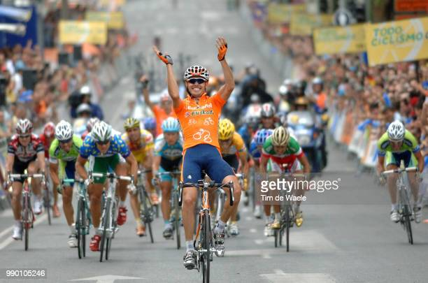 Tour Of Spain Stage 13Arrival Sprint Sanchez Samuel Celebration Joie Vreugde Hushovd Thor Vinokourov Alexandre Zabel Erik Bettini Paolo Valverde...