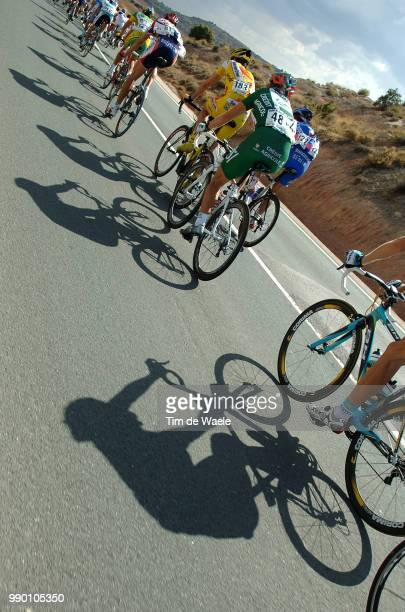 Tour Of Spain, Stage 13Illustration Illustratie, Shadow Hombre Schaduw, Peleton Pelotonguadalajara - Cuenca Vuelta, Rit Etapeuci Pro Tour, Tim De...
