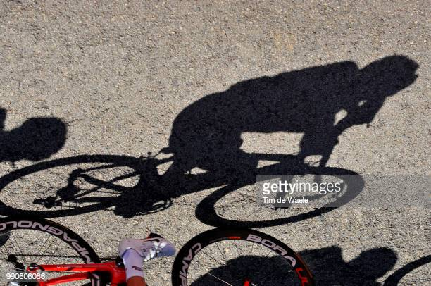 Tour Of Spain, Stage 14Illustration Illustratie, Shadow Hombre Schaduw /Oviedo - E.E. Fuentes De Invierno , Vuelta D'Espagna , Ronde Van Spanje,...
