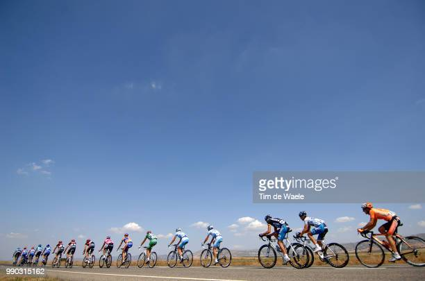 Tour Of Spain, Stage 17Illustration Illustratie, Peleton Peloton, Landscape Paysage Landschap, Sky Ciel Lucht, Van Goolen Jurgen Grey Mountain...