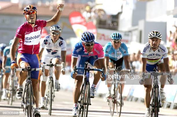 Tour Of Spain Stage 5Arrival Freire Oscar Celebration Joie Vreugde Gilbert Philippe Bennati Daniele Bettini Paolo Zabel Erik /Cangas De Onis Reinosa...