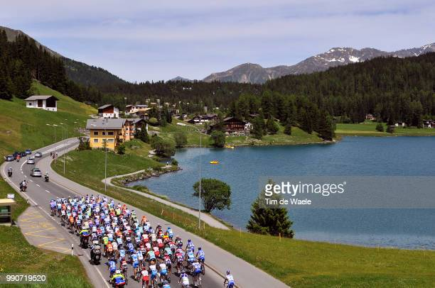 Tour Of Suisse, Stage 2Illustration Illustratie, Peleton Peloton, Davos Lake Lac Meer, Landscape Paysage Landschap /Davos - Davos , Ronde Van...