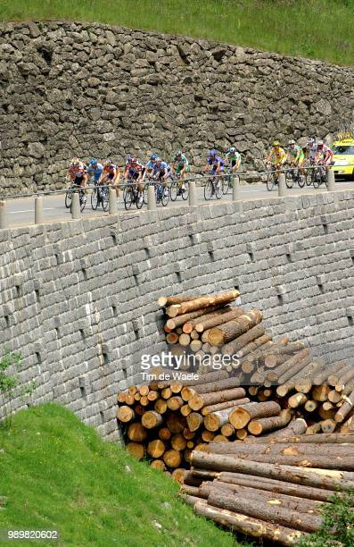Tour Of Switserland, Stage 6Illustration Illustratie, Peleton Peloton, Landscape Paysage Landschapstage 6 : Burglen - Arosa Etape Rit, Uci Pro Tour,...