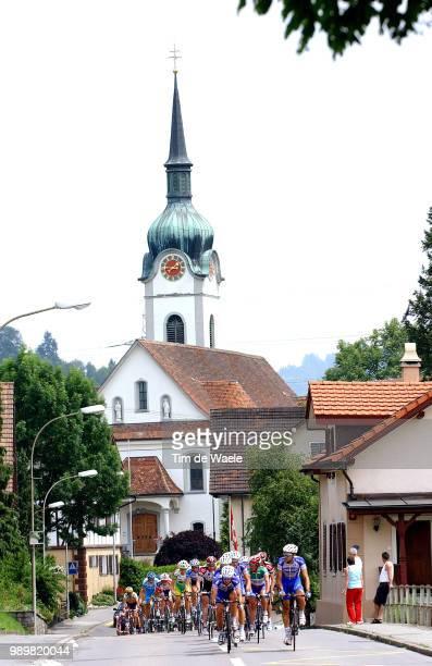Tour Of Switserland, Stage 7Illustration Illustratie, Peleton Peloton, Landscape Paysage Landschap, Church Eglise Kerkstage 7 : Einsiedeln - Lenk...