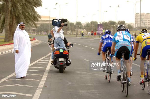 Tour Qatar 2006, Stage 1Illustration Illustratie, Peleton Peloton, Tv Tã©Lã©, Sheik Khalid Bin Ali Al Thani Presidentkhalifa Stadium - Al Khor...