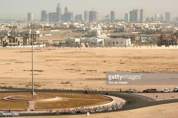 Tour Qatar 2006, Stage 4Illustratie, Peleton Peloton, Landscape Paysage Landschap Sky Ciel Lucht Doha City Ville Stadal Zubarah - Qatar Olympic...