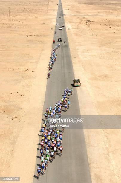 Tour Qatar 2006, Stage 4Illustratie, Peleton Peloton, Landscape Paysage Landschap Sky Ciel Lucht, Bordures Waaiers, Dessert Woestijn Al Zubarah -...