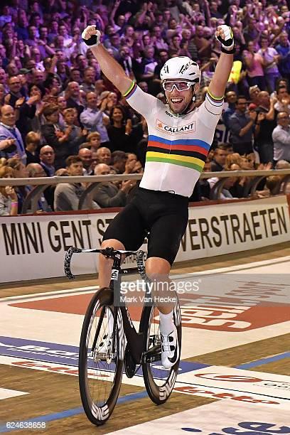 76th 6 Days of Gent 2016 / Day 6 Mark CAVENDISH Celebration / Kuipke Track Velodrome / Tim De WaeleMVH/Tim De Waele/Corbis via Getty Images