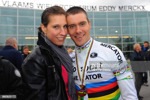 Track World Championships 2012 Men Madisonkenny De Ketele Sara Peeters Wife Femme Vrouw Returning Home With There Gold Medal Madison / Ploegkoers...