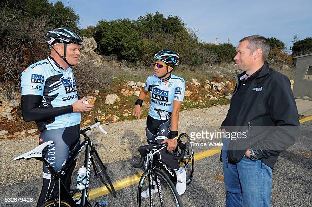 Training camp Team Saxo Bank 2012 / Israel Bjarne RIIS Sportsdirector Team Owner / Alberto CONTADOR / Piet DE MOOR Dokter Doctor Medic / Training...