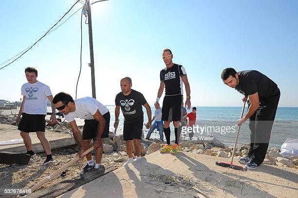 Training camp Team Saxo Bank 2012 / Israel Philippe JAMIN / Peter DE CONINCK / Benjamin NOVAL / Christophe DESIMPELAERE / Sebastian HAEDO / Peter DE...