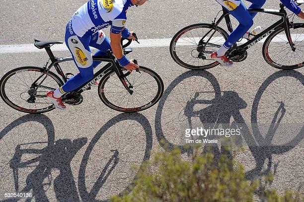 Training Topsport Vlaanderen Baloise 2014 Illustration Illustratie / Shadow Hombre Schaduw / Merckx Bike Velo Fiets / Rotor / FFWD Wheel Roue Wiel /...