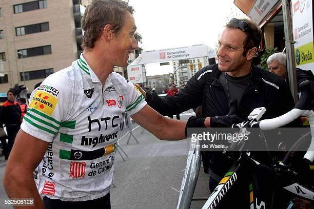 Volta Ciclista a Catalunya 2011 / Stage 2 Gatis Smukulis Leader Jersey / Celebration Joie Vreugde / Santa Coloma de Farners - Banyoles / Rit Etape...