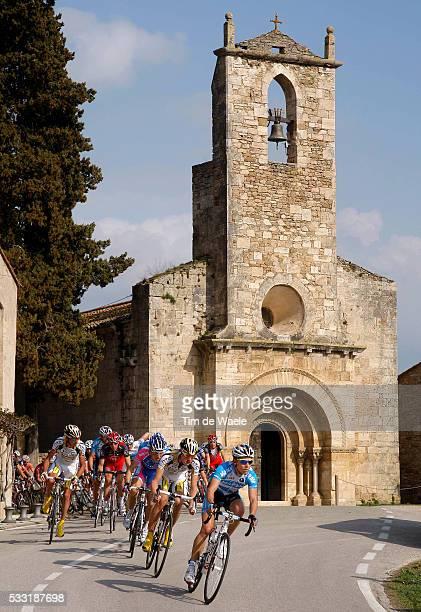 Volta Ciclista A Catalunya / Stage 2 Illustration Illustratie / Peleton Peloton/ Church Eglise Kerk / Landscape Paysage Landschap / Salt - Banyoles /...