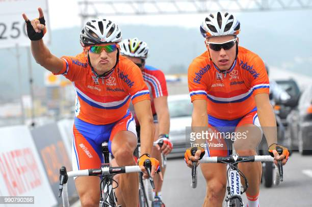 Wc Mendrisio, Training Karsten Kroon / Sebastian Langeveld / Nederland Netherlands Holland, Team Equipe Ploeg /World Championship/ Championat Du...