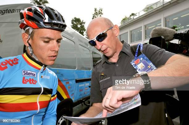 Wc Mendrisio, Training Philippe Gilbert / Carlo Bomans National Coach, Belgium Belgique Belgie, Team Equipe Ploeg /World Championship/ Championat Du...