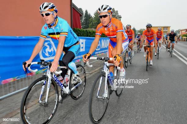 Wc Mendrisio, Training Philippe Gilbert / Maxime Monfort / Tom Boonen , Kevin De Weert / Nick Nuyens / Bert De Waele , Francis De Greef , Team Equipe...