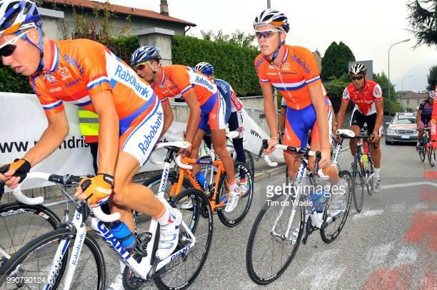 Wc Mendrisio, Training Sebastian Langeveld / Lars Boom / Johnny Hoogerland / Team Equipe Ploeg, Netherlands Holland Nederland, World Championship/...