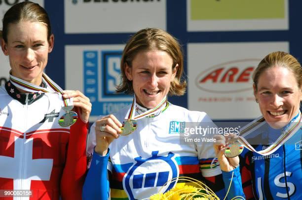 Wc Salzburg, Elite Womenpodium, Thãœrig Karin / Armstrong Kristin , Thorburn Christine , Celebration Joie Vreugderoad World Championships, Championat...