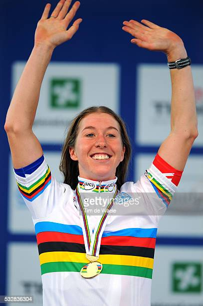 Varese / Road Race Elite Women Podium / Nicole COOKE Gold Medal / Celebration Joie Vreugde / Women Femmes / World Championships / Championat du Monde...