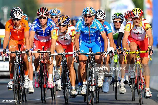 Varese / Road Race Men Elite Arrival / Oscar FREIRE / Paolo BETTINI / Sylvain CHAVANEL / Karsten KROON / Alejandro VALVERDE / Deception...