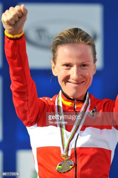 Wc Varese, Time Trial Women Elitepodium /Judith Arndt Bronze Medal, Celebration Joie Vreugde /Contre La Montre Femmes Elite, Tijdrit Vrouwen Elite,...