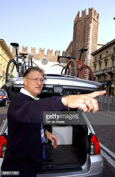 World Champ. Verona 2004 Knetemann Gerrie Coach Trainer Nederland Netherlandsroad Race Training Entrainementworld Championships Championat Du Monde...