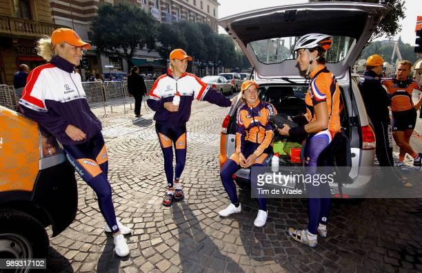 World Champ. Verona 2004 Team Equipe Ploeg Women Vrouwen Nederland Netherlands, Beltman Chantal , Ghita Beltman , Melchers Miriam Road Race Training...