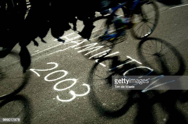World Road Championships 2003, Illustration Illustratie, Hamilton, Shadow Hombre Schaduw, Course En Ligne Elite Femmes /Individual Road Elite Women,...