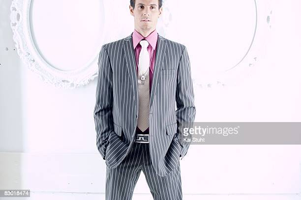 Cyclist Andreas Kloden poses for a portrait shoot for Useless magazine in Munich on March 17 2004
