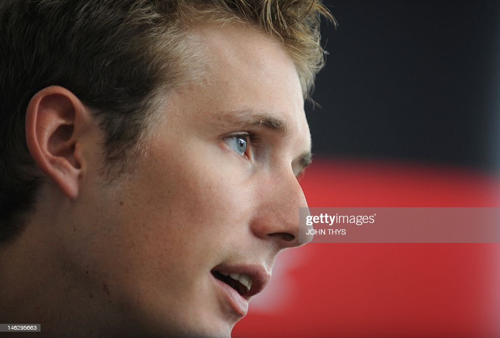 Cyclist Andy Schleck of Luxembourg speaks during a press conference in Strassen on June 13, 2012. Yellow jersey contender Schleck has pulled out of this year's Tour de France due to injuries suffered in last week's Criterium du Dauphine race.