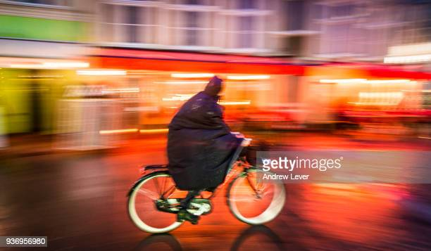 Cyclist at night time