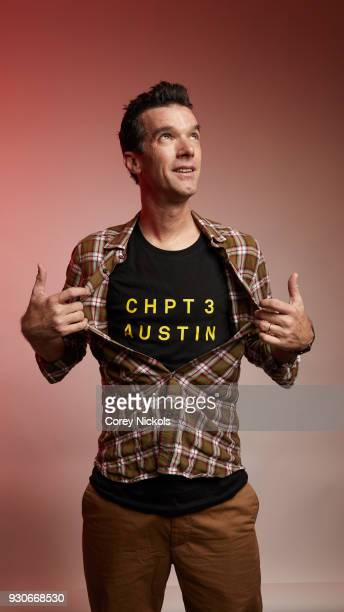Cyclist David Millar of the film 'Time Trial' poses for a portrait in the Getty Images Portrait Studio Powered by Pizza Hut at the 2018 SXSW Film...