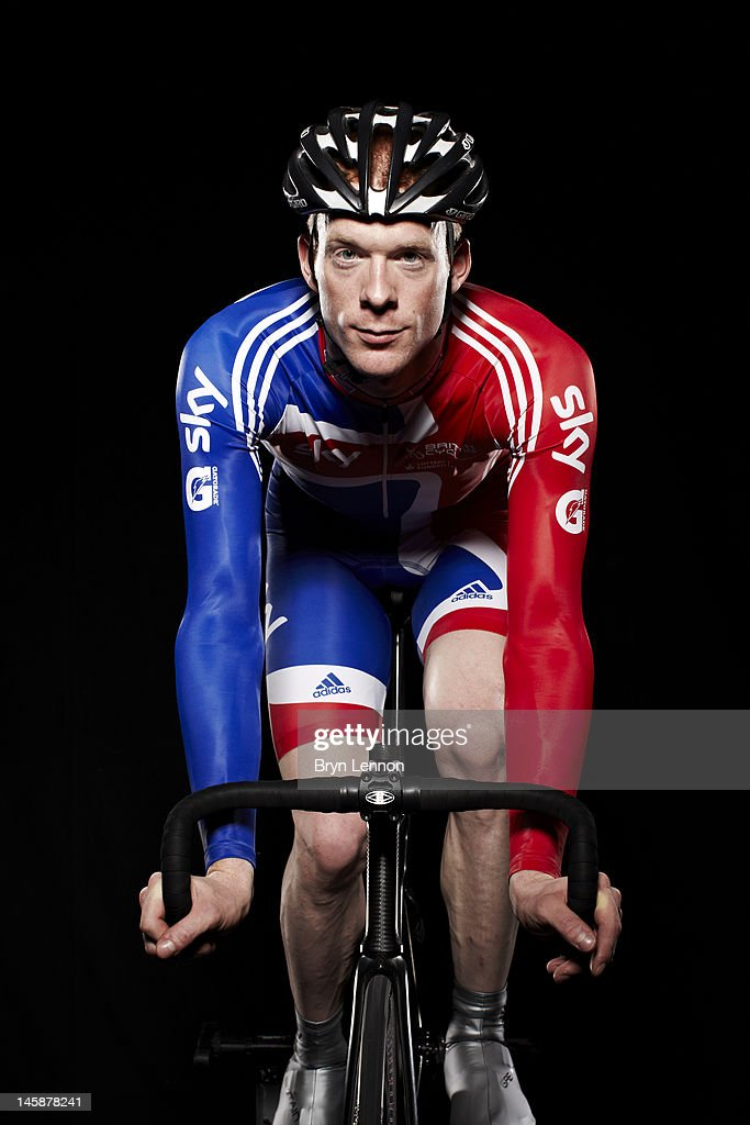 Cyclist Ed Clancy of Great Britain and Rapha Condor Sharp poses for a portrait session on November 29, 2011 in Manchester, England.