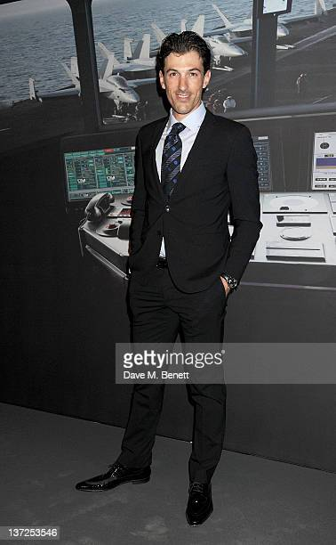 Cyclist Fabian Cancellara attends the IWC Top Gun Gala Event at 22nd SIHH High Jewellery Fair on at the Palexpo Exhibition Hall January 17, 2012 in...