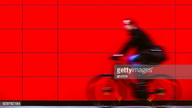 Cyclist fast as a lightning