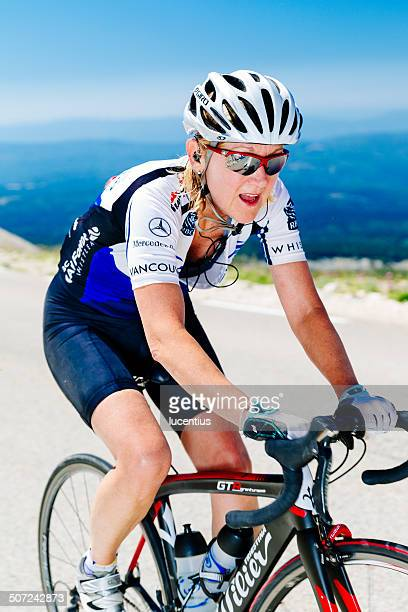 Cyclist, female, Mont Ventoux France