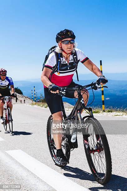 Cyclist, female, Mont Ventoux