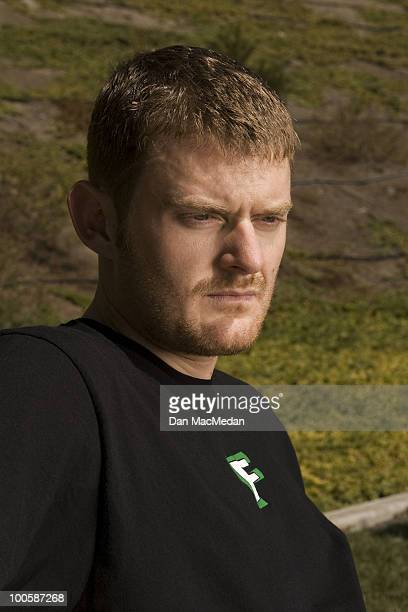 Cyclist Floyd Landis poses at a portrait session for the USA Today in Los Angeles, CA on September 30, 2006.