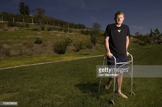 Cyclist Floyd Landis poses at a portrait session for the USA Today in Los Angeles CA on September 30 2006